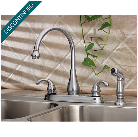 Stainless Steel Treviso 2-Handle Kitchen Faucet - 036-4DSS - 2