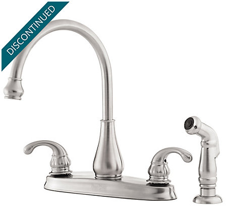 Stainless Steel Treviso 2-Handle Kitchen Faucet - 036-4DSS - 1