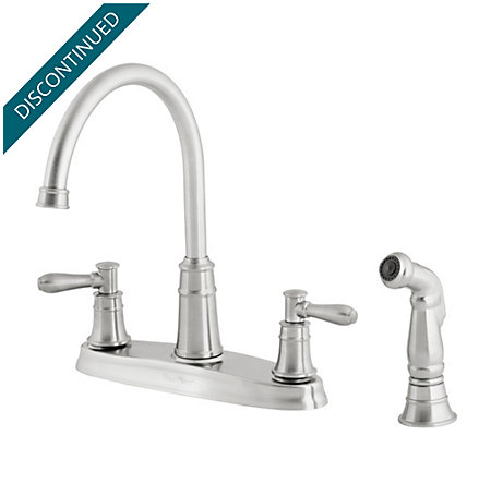 Stainless Steel Harbor 2-Handle Kitchen Faucet - 036-CL4S - 1