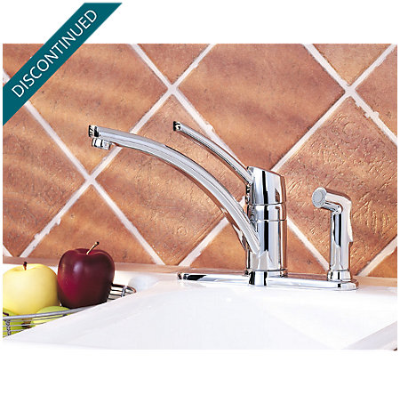 Polished Chrome Parisa 1-Handle Kitchen Faucet - 039-3NCC - 2