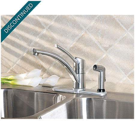 Stainless Steel Parisa 1-Handle Kitchen Faucet - 039-3NSS - 2