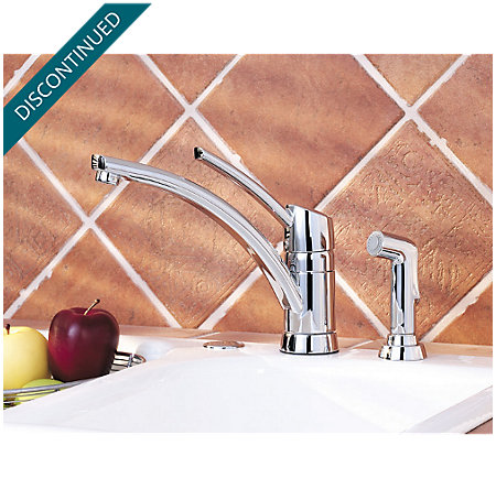 Polished Chrome Parisa 1-Handle Kitchen Faucet - 039-4NCC - 4