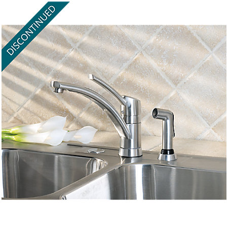Stainless Steel Parisa 1-Handle Kitchen Faucet - 039-4NSS - 5