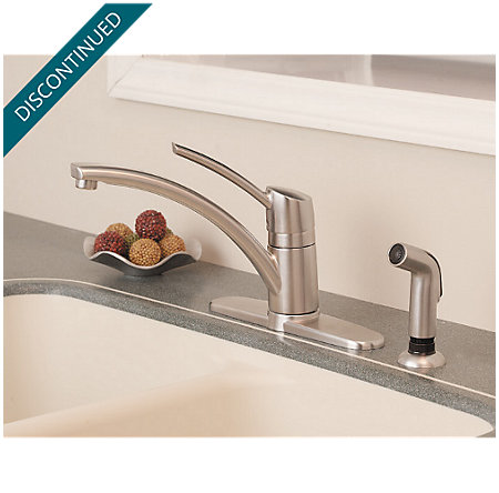 Stainless Steel Parisa 1-Handle Kitchen Faucet - 039-4NSS - 6