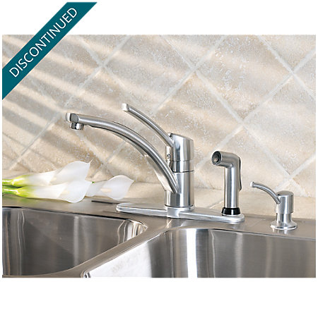 stainless steel parisa 1-handle kitchen faucet - 039-pnss - 2