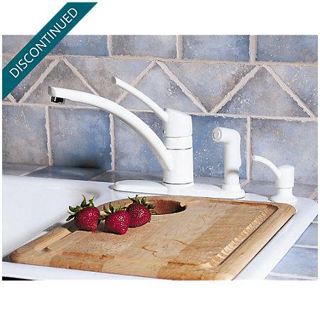 White Parisa 1-Handle Kitchen Faucet - 039-PNWW - 3