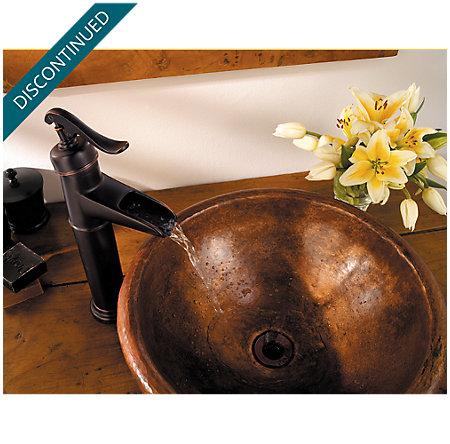 Tuscan Bronze Ashfield Vessel, Single Control Bath Faucet - 040-YP0Y - 2