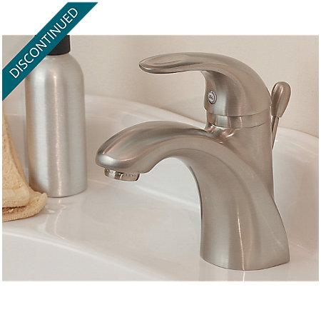 Brushed Nickel Parisa Single Control, Centerset Bath Faucet - 042-AMFK - 2