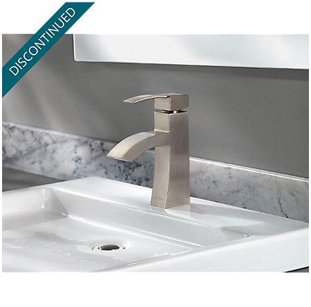 Brushed Nickel Bernini Single Control, Centerset Bath Faucet - 042-BNKK - 3