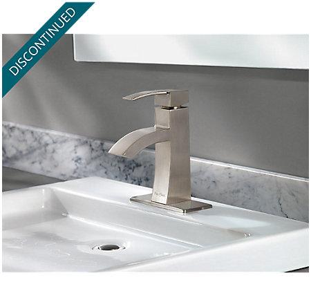 Brushed Nickel Bernini Single Control, Centerset Bath Faucet - 042-BNKK - 4