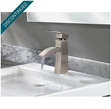 Brushed Nickel Bernini Single Control, Centerset Bath Faucet - 042-BNKK - 5