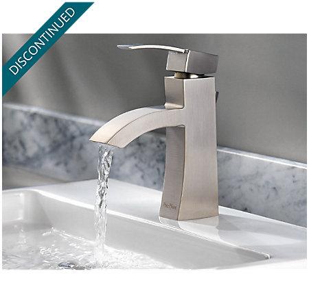 Brushed Nickel Bernini Single Control, Centerset Bath Faucet - 042-BNKK - 7