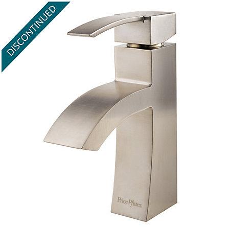 Brushed Nickel Bernini Single Control, Centerset Bath Faucet - 042-BNKK - 1