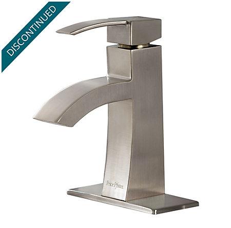 Brushed Nickel Bernini Single Control, Centerset Bath Faucet - 042-BNKK - 2