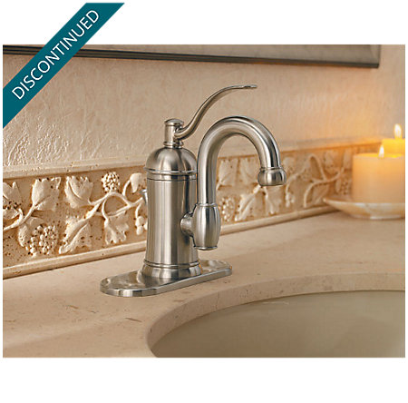 Brushed Nickel Amherst Single Control, Centerset Bath Faucet - 042-HAK0 - 4