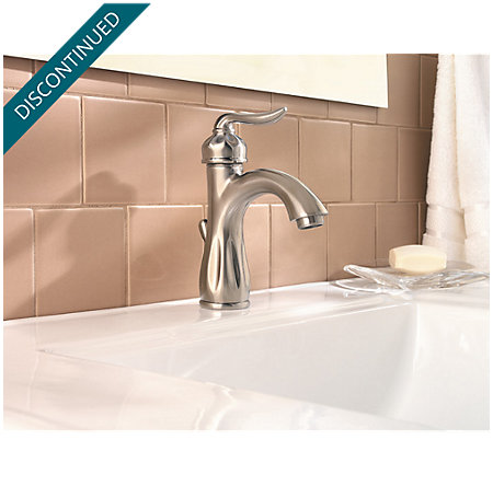Brushed Nickel Sedona Single Control, Centerset Bath Faucet - 042-LT0K - 3