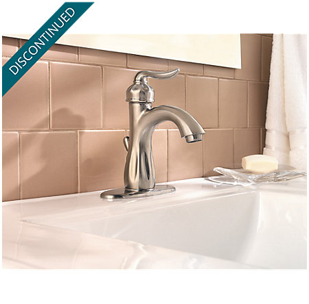 Brushed Nickel Sedona Single Control, Centerset Bath Faucet - 042-LT0K - 4