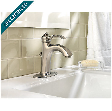 Brushed Nickel Portola Single Control, Centerset Bath Faucet - T42-RP0K - 3