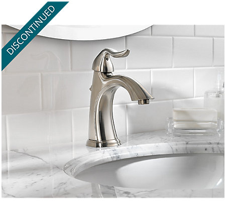 Brushed Nickel Santiago Single Control, Centerset Bath Faucet - 042-ST0K - 3