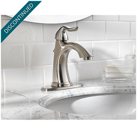 Brushed Nickel Santiago Single Control, Centerset Bath Faucet - 042-ST0K - 4