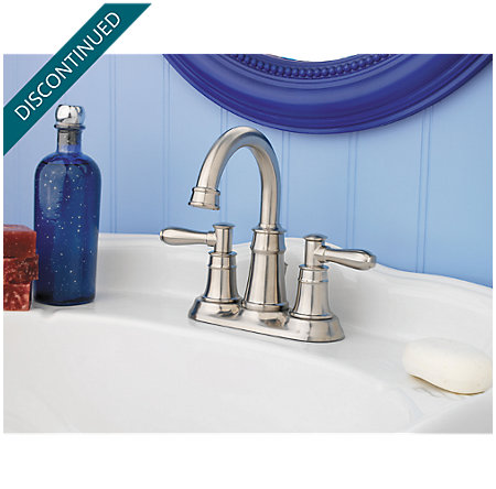 Brushed Nickel Harbor Centerset Bath Faucet - 043-CL0K - 2
