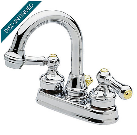 Polished Chrome / Polished Brass Savannah Centerset Bath Faucet - 043-HXMB - 1