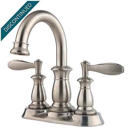 Brushed Nickel Langston Centerset Bath Faucet - 043-LN0K - 1