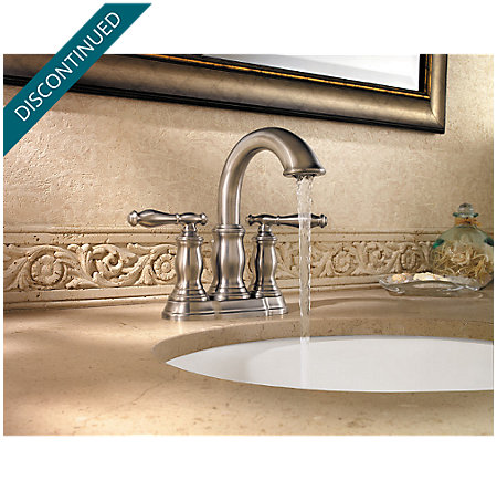 Brushed Nickel Hanover Centerset Bath Faucet - 043-TMKK - 2