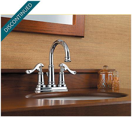 Polished Chrome Ashfield Centerset Bath Faucet - 043-YP0C - 2