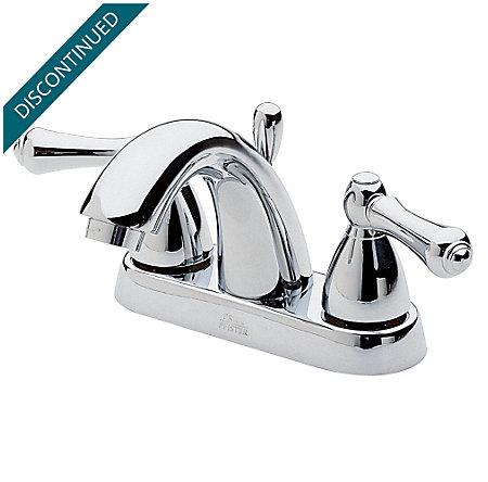 Polished Chrome Carmel Centerset Bath Faucet - 048-J0XC - 1