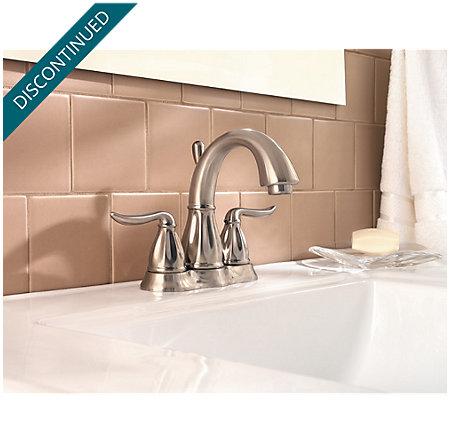 Brushed Nickel Sedona Centerset Bath Faucet - 048-LT0K - 2