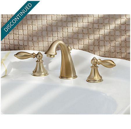 Polished Brass Catalina Widespread Bath Faucet - 049-E0BF - 2