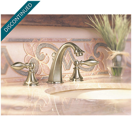Brushed Nickel Catalina Widespread Bath Faucet - 049-E0BK - 3