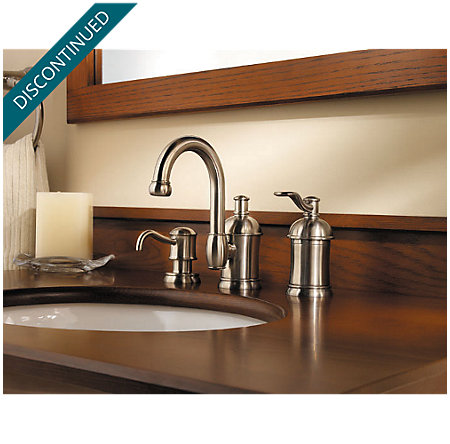 Brushed Nickel Amherst Widespread Bath Faucet - 049-HA1K - 3