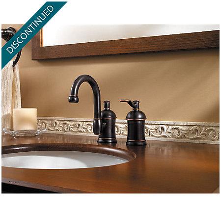 Tuscan Bronze Amherst Widespread Bath Faucet - 049-HA1Y - 2