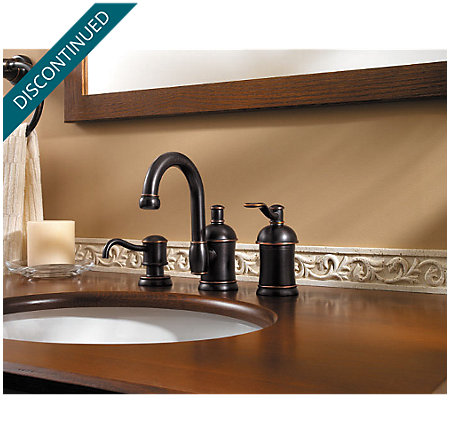 Tuscan Bronze Amherst Widespread Bath Faucet - 049-HA1Y - 4