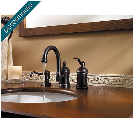 Tuscan Bronze Amherst Widespread Bath Faucet - 049-HA1Y - 5