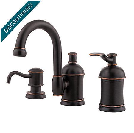 Tuscan Bronze Amherst Widespread Bath Faucet - 049-HA1Y - 1