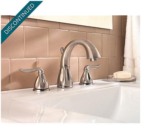 Brushed Nickel Sedona Widespread Bath Faucet - 049-LT0K - 2