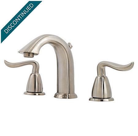 Brushed Nickel Santiago Widespread Bath Faucet - 049-ST0K - 1