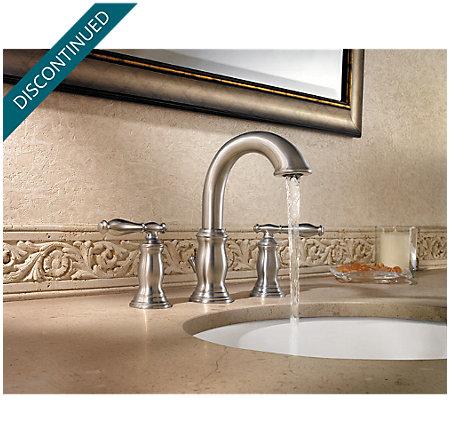 Brushed Nickel Hanover Widespread Bath Faucet - 049-TMKK - 2