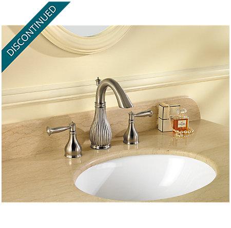 Brushed Nickel Virtue Widespread Bath Faucet - 049-VTKK - 2