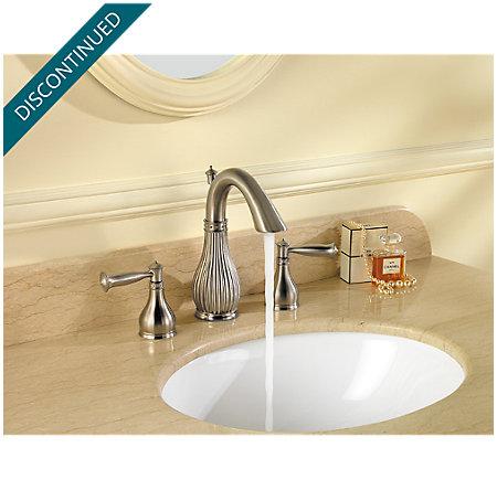 Brushed Nickel Virtue Widespread Bath Faucet - 049-VTKK - 6