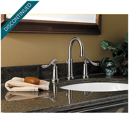 Brushed Nickel Ashfield Widespread Bath Faucet - 049-YP0K - 2