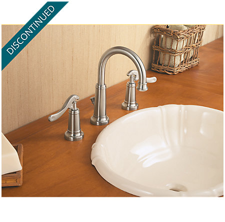 Brushed Nickel Ashfield Widespread Bath Faucet - 049-YP0K - 3