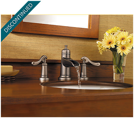 Rustic Pewter Ashfield Widespread Bath Faucet - 049-YP1E - 3
