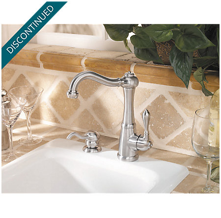 Stainless Steel Marielle  Kitchen Faucet - 072-MPSS - 2