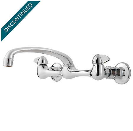 Polished Chrome Pfirst Series 2-Handle Kitchen Faucet - 127-1000 - 1