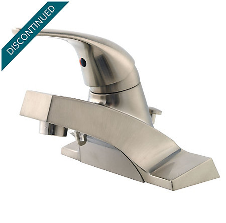 brushed nickel pfirst series centerset bath faucet - 142-600k - 1
