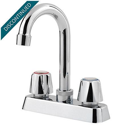 Polished Chrome Pfirst Series Bar/Prep Kitchen Faucet - 171-4000 - 1